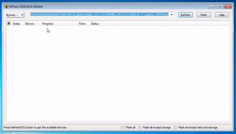 Flash Redmi 5a Matot Miflash tool