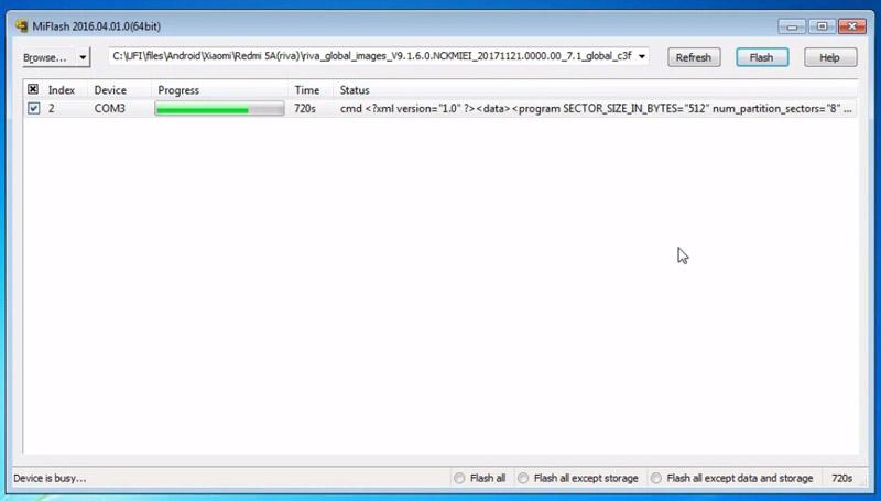 Flash Redmi 5a Matot Proses Flashing