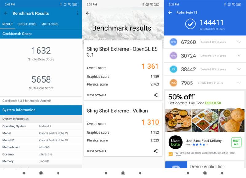 Hasil benchmark Redmi Note 7s
