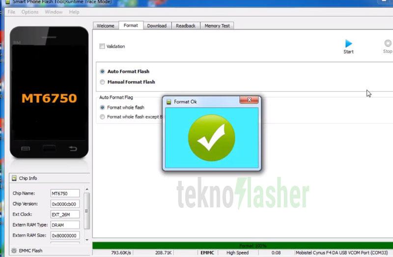 OPPO A71 Format Flashtool Ok