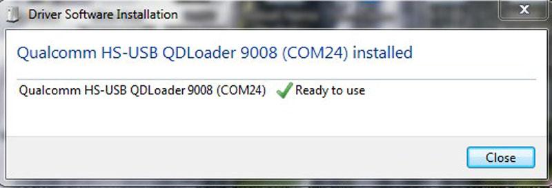 Qualcomm HS-USB QDLoader 9008 install