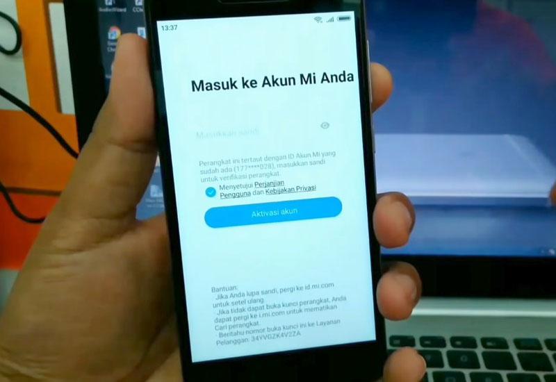 Unlock Redmi 5a Riva Mi Akun Page