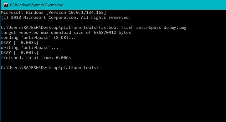 flash antirbpass dummy