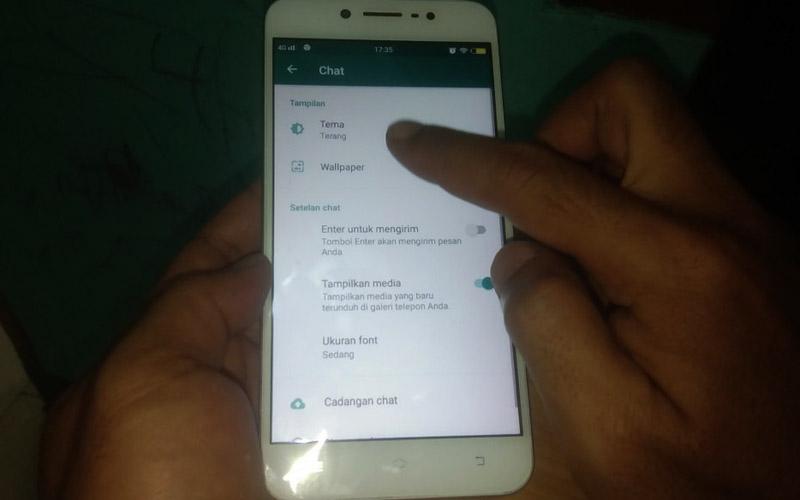 Install WhatsApp Dark Mode Setelan Chat