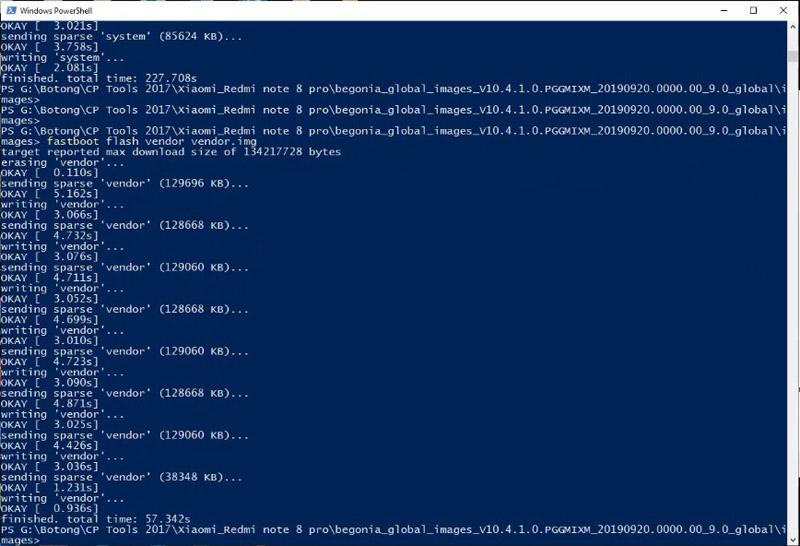 Redmi Note 8 Pro Bootloop fastboot vendorimg
