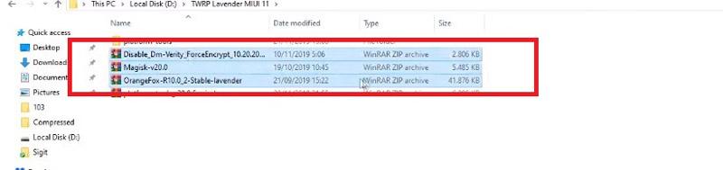 TWRP Redmi Note 7 Copy File