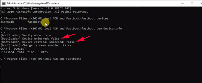 UBL Redmi Note 5 Fastboot device-info