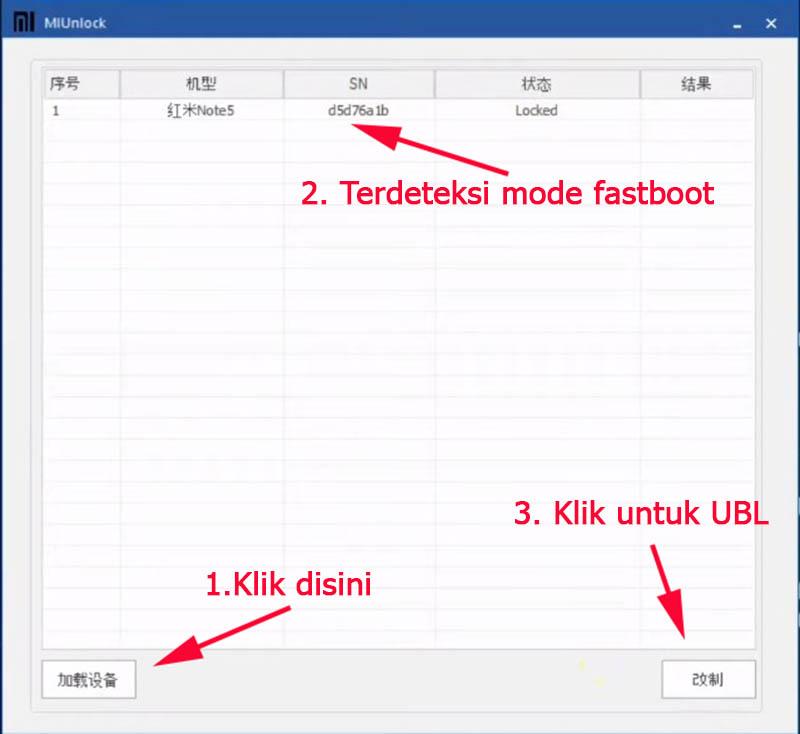 UBL Redmi Note 5 Xiaomi Unlock