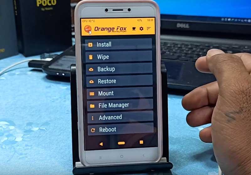 TWRP REDMI 5a OrangeFox
