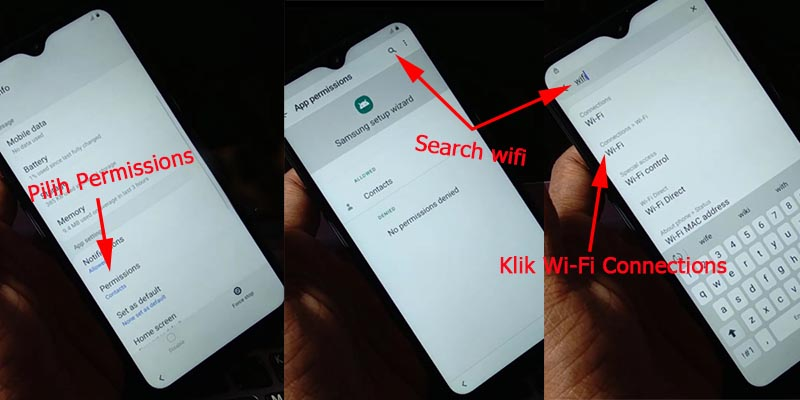 Bypass Akun Google Samsung Android 10 Wifi Connections