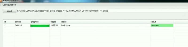 Fix Mi Cloud Redmi 4a Flash Done