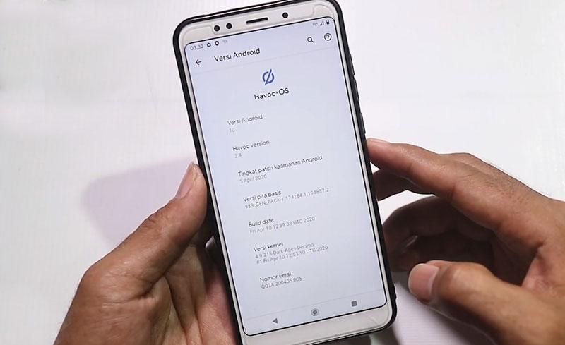 Havoc-OS Redmi 5 Plus About Phone