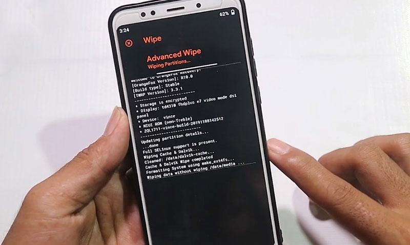 Havoc-OS Redmi 5 Plus proses wife data