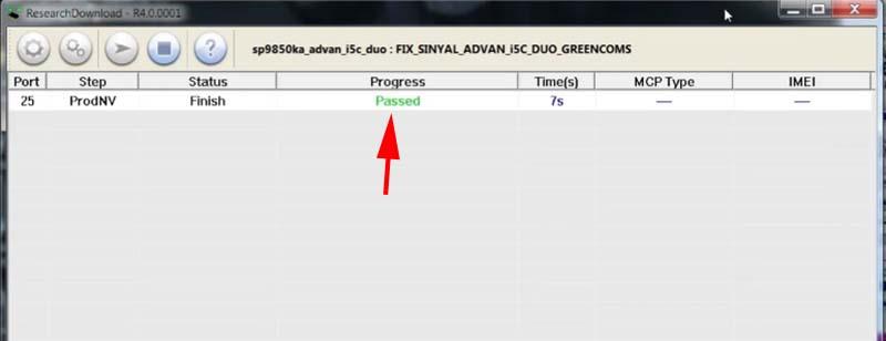 Mengatasi Imei Null Advan i5c Duo ResearchDownload flash sukses
