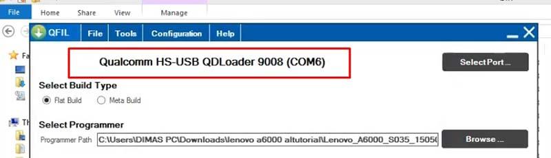 Mengatasi Lenovo A6000 Bootloop QFIL Driver