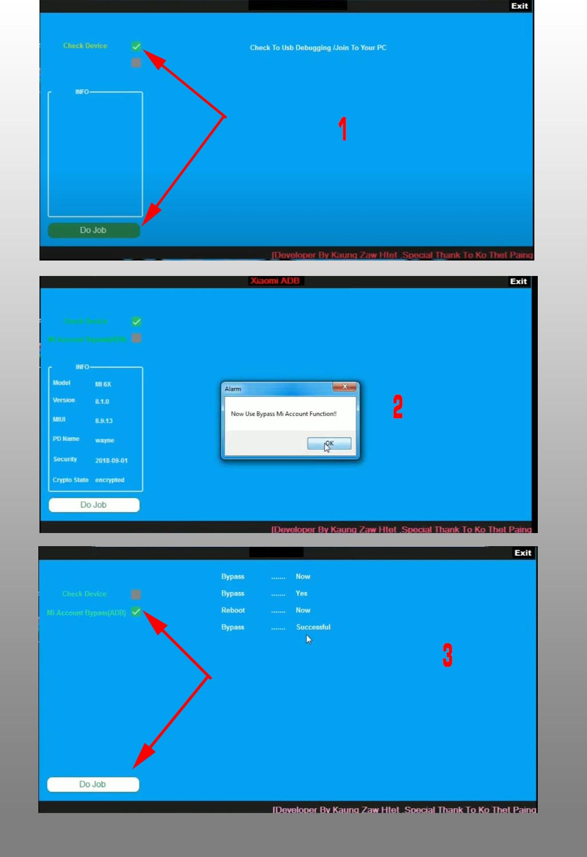 Bypass Mi Akun Xiaomi Mi 6x Mi Adb Bypass tool