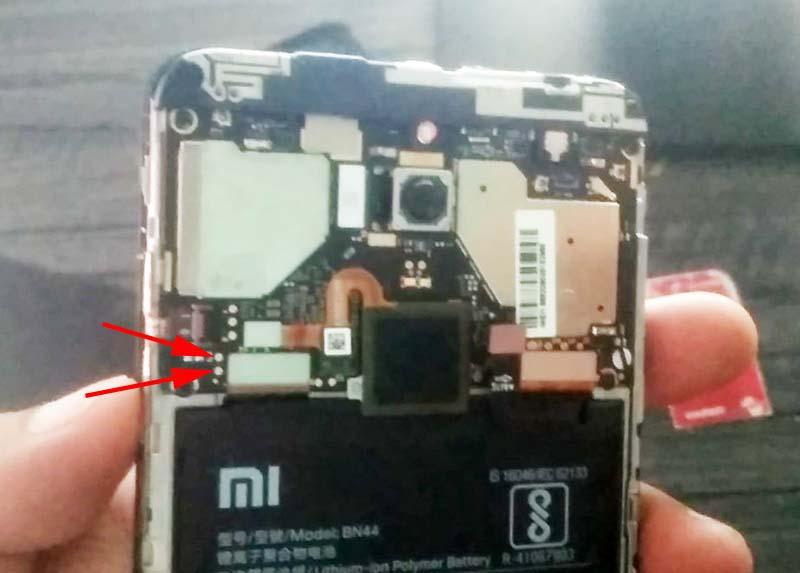 Unlock Micloud Redmi 5 Plus Test Point