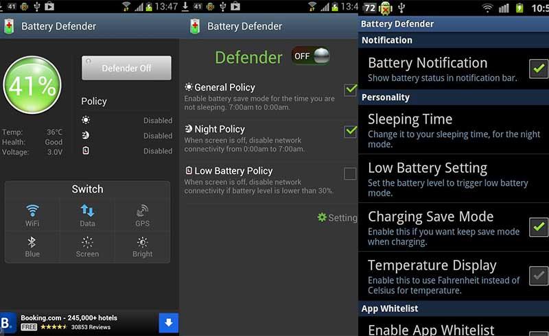 Battery Defender Aplikasi Penghemat Baterai Android Terbaik