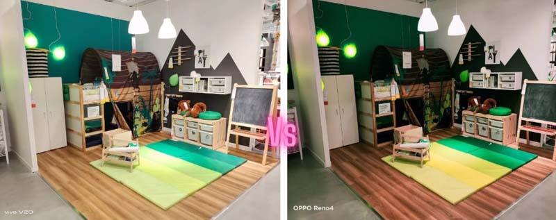 Contoh Perbedaan Kamera Vivo V20 dan OPPO Reno4 Indoor