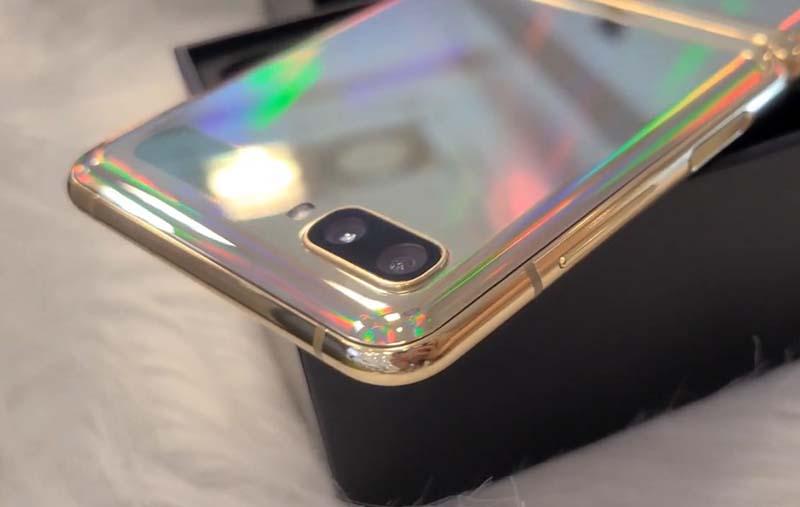 Kamera Samsung Galaxy Z Flip Mirror Gold