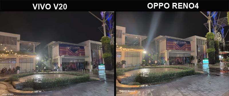 Perbedaan Kamera Night Mode Vivo V20 dan OPPO Reno4