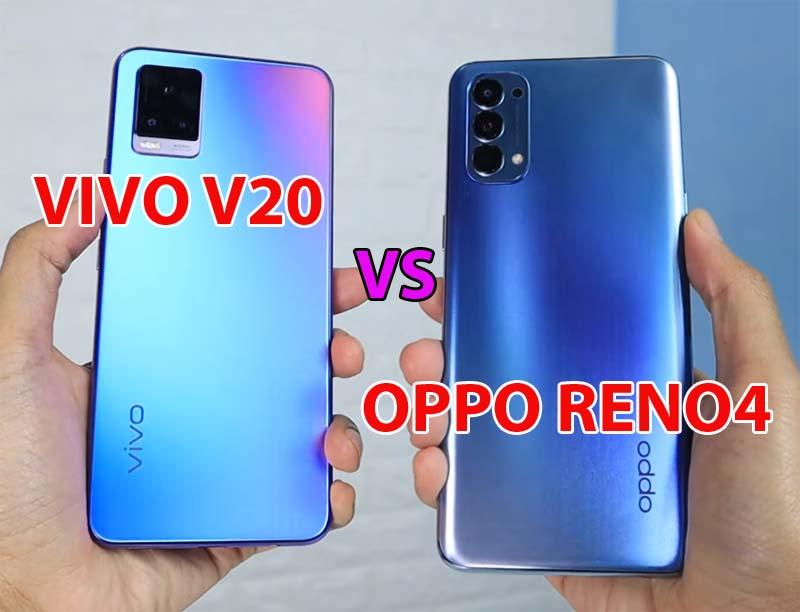 Perbedaan Vivo V20 dan OPPO Reno4